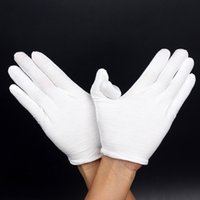 Wholesale White Cotton Work Gloves Wholesale - White Safety Work Gloves Cotton Comfortable Breathable Wear-resisting Non-slip Gloves for Workers Safely Security Working Ceremonial