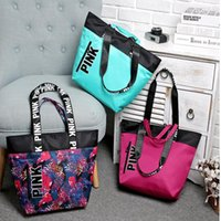 Wholesale Women Handbags Chinese - Women Handbags VS Pink Large Capacity Travel Duffle Waterproof Beach Bag Shoulder Bag Secret Shoulder Bag tote KKA2023