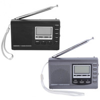 Wholesale Freeshipping Portable Radio DSP FM MW SW Receiver Emergency Radio with Digital Alarm Clock FM Radio FM Receiver