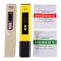 su için dijital ph test cihazları toptan satış-Dijital pH Metre + TDS Tester Katı Lab Akvaryum Havuz Topraksız Su BI576