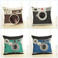 gedruckte kamera großhandel-Digital Camera Printed Kissenbezug Kunst Schlafzimmer Ein Wohnzimmer Kissen Weiche Hauptlieferung Dekoration Kreative Mode Kissenbezug 4 8qj J R