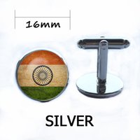 Wholesale Grooms Gifts - Vintage World National Symbolic Flag Cufflinks Brand Silver Shirt Button Cuffl Links Men Groom Wedding Gift USA UK French Canada