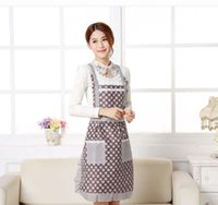 Wholesale Princess aprons at home Women Apron with Pocket Cooking Ruffle Chef Floral Kitchen Restaurant Princess Apron