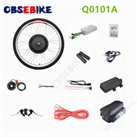 "Wholesale E Bike Motor Conversion - CBSEBIKE 26""x1.8"" Front Wheel Electric Bicycle Motor Kit 48V 1000W Powerful Motor E-Bike Conversion w  LCD Display"
