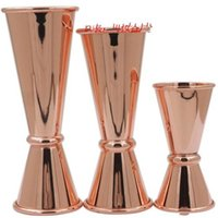 Wholesale Decoration Scales - Liquid Separator Cups Two Sides Stainless Steel Counting Spoon Jigger Cup Bartender Scale Graduated Glasses Spoons Bronze 19 8mt R