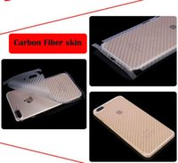 Wholesale Matte Carbon Fiber Sticker - Matte Leather Checker Carbon Fiber Skin Full protective cover Back sticker For Iphone 7 Plus 6 6S 5 5S Clear Guard protector stickers 10pcs