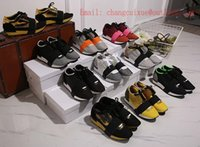 Wholesale Race Photo - women 35-44 100% Real Photos Original Quality Race Runners Multimaterial Contrasted Runners Genuine Leather Mesh Suede Fabric Low-top Shoes