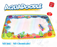Wholesale Rainbow Water Drawing Mat With Pen Aqua Doodle Mat Rug For Painting Xmas Gift For Kids