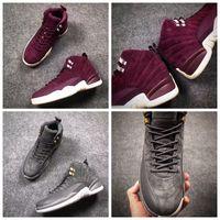Wholesale Sneakers For Women Shoes Height - 2017 New Air Retro 12 Bordeaux Dark Grey Basketball Shoes For Men Women Sport Shoe Bordeaux Retros 12s Athletic Trainers Sneakers