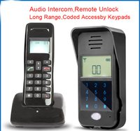 Wholesale Long Range Security - AD01 1 Voice door Intercom Full Wireless duplex door Intercom long range Security AT