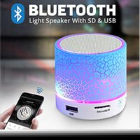 Wholesale Iphone Music Stand - LED Portable Mini Bluetooth Speakers Wireless Hands Free Speaker With TF USB FM Mic Blutooth Music For Mobile Phone iPhone 6 7 s