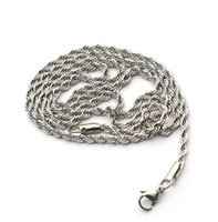 Wholesale China Hip Hop Wholesalers - Width 2 3 4M fashion hip-hop European and American style men and women universal Retro twist necklace fashion wild necklace wholesale