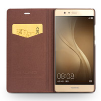 Wholesale Huawei Flip Case - B06 phone case For Huawei P9 Genuine Leather Flip Case for Huawei P9