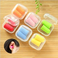 Wholesale Ear Plugs For Sleeping - Classic Box pack Soft Foam Ear Plugs Tapered Travel Sleep Noise Prevention Earplugs Noise Reduction For Travel Sleeping B87Q