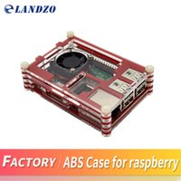 Wholesale Raspberry Cooler - LANDZO Raspberry Pi 3 Case for Raspberry Pi 3 &2 B & Pi B+,red Sliced 9 Layers Case Box + Cooling Fan