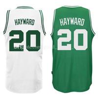 Wholesale Gordon Jersey - cheap 2017 new Men's #20 Gordon Hayward Jersey 11 Jayson Tatum 27 Rudy Gobert basketball jerseys 100% stitched fast shipping