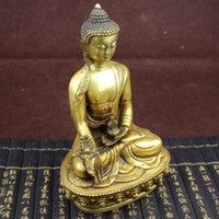 Wholesale Tibetan Ornaments - Large Tibet Tibetan brass Medicine Buddha Statue