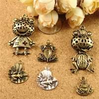 Wholesale Vintage Jewelry Diy Materials Zakka - DIY jewelry accessories Toad charms, wholesale Beaded material Zakka retro bronze Frog Pendant series, vintage tibetan silver charms China