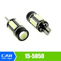 Wholesale W16w Led Bulb - New 10pcs Car New Canbus Car LED 7.5w T15 LED Reverse Light W16W 15SMD
