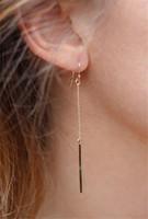 Wholesale Earing Green - Long Earrings Tassel Ear Stud Earrings Fashion Jewelry Chic Design Earing Accessories Jewellry One Simple Gold Silver Stick Bar Punk Dainty