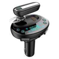 ingrosso carta di tf di musica del bluetooth-Bluetooth Car Kit vivavoce per auto FM Trasmettitore Car Radio Adattatore Caricatore Dual USB con Bluetooth Headset Supporto TF Card MP3 Music Play