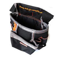 Wholesale Pockets Electrician Bag - Wholesale-8 Pockets Oxford Tool Pouch Electrician Tools Bag Electricista Tool Belt Waist Pocket Tool Belt Pouch Bagbolsa Herramienta HW243