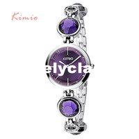 Wholesale Kimio Brand For Watch - KIMIO Fanshion Quality Crystal Diamond Bracelet Quartz Watches Woman Watches 2016 Brand Luxury Ladies Wrist Watches For Women