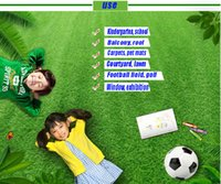 PE sports carpet - Artificial simulation lawn carpet kindergarten lawn wedding exhibition sports lawn artificial plastic false turf