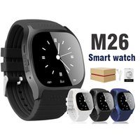 Wholesale Wholesale Korean Packaging - Bluetooth Smart Watch M26 Wrist Watch for Android Smart Watch Dial Phone For Samsung S8 Android System in Retail Package