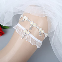 d2d07e207b2 Real Image 2 Pcs Lovely Elastic Crystals Bridal Garters for Bride Wedding Garters  Free Shipping White Cheap Wedding Leg Garters In Stock