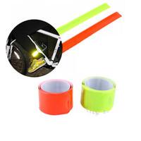 cintos reflectores de segurança venda por atacado-Bandas refletivas perna braço cinta bicicleta bicicleta segurança cinto de segurança brilho para ciclismo jogging camping