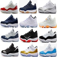 Wholesale Gum Shoes - Air retro 11 men women Basketball Shoes Navy Gum legend University Blue Barons bred Georgetown space jam 45 72-10 retro 11s Sports sneaker