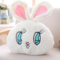 Wego Bunny Cushion Toy Bunny Stuffed Bunny Toy 19.5 pulgadas Fuzzy Round Rabbit Pillow con orejas de peluche Kawaii Throw Pillow Dormitorio Decoración Toy