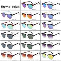 Wholesale Wholesale Personalized Sunglasses - 2017 Brands Ray Half Frame Sunglasses Female Sunglasses Brand Designer Vintage Hot Men's Personalized Sunglasses UV 400 Protection