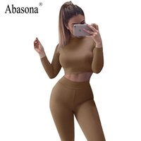 Wholesale Two Piece Night Club Wear - Wholesale- Sexy Jumpsuit Women Overalls Autumn Long Sleeve Turtleneck Rompers Night Club Wear Bodycon Bodysuit Women Two Piece Jumpsuits
