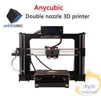 impresiones de acrílico de china al por mayor-Impresoras Anycubic 3D Interfaz en inglés chino Suite de aprendizaje DIY referencia prusa i3 boquilla doble Impresión en color doble impresora 3D