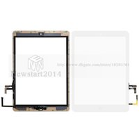 Wholesale Home Sticker Buttons - huasha For iPad air For iPad 5 Touch Screen Glass Digitizer Assembly with Home Button& Adhesive Glue Sticker Replacement A1474 A1475