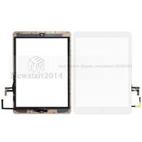 ipad luftaufkleber großhandel-Huasha Für iPad air Für iPad 5 Touchscreen Glas Digitizer Assembly mit Home Button Klebstoff Kleber Aufkleber Ersatz A1474 A1475