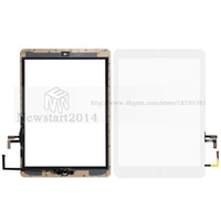 Wholesale huasha For iPad air For iPad Touch Screen Glass Digitizer Assembly with Home Button Adhesive Glue Sticker Replacement A1474 A1475