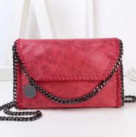 Wholesale Brown Suede Clutch - Wholesale-Crossbody Bag Chain Stella Bag Suede Fashion Simple Plain Portable Women Shoulder Women Messenger Bag Bags Women's Clutches