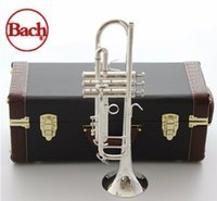 Piccolo Trumpet original ab - American original Bach trumpet gold and silver plated silver AB S silver plated Bach small Musical instruments professional