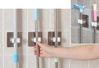ingrosso vaso montato-Nuovo PVC fissato al muro Mop e Broom Holder Bagno Mensole Vasi di stoccaggio Ganci Garden Tool Organizer riutilizzabile