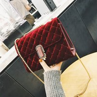 Hot Sale Fashion Famous Designer Brand Small Women plush winter Handbags de luxo velour Shoulder Bag noite Clutch Messenger Bag