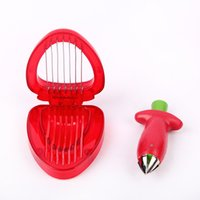 Wholesale Gadgets Strawberry Slicer - Simply Slice Strawberry Section Slicer Kitchen Cutter Gadgets Tool Mini Slicer Cut Stainless Steel Blade Craft Fruit Tools 2017 h112