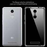 Wholesale Mi2 Case - Wholesale- TPU Transparent soft Case For Xiaomi Mi2 M2 Mi3 M3 Mi4 Mi5s M5 Mi4C Mi4i 4S Redmi 2 3 3S 3X 4 Prime 4 4A Note 2 3 4 Pro cover