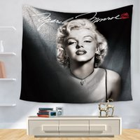 Wholesale marilyn monroe posters - Marilyn Monroe Polyester Tapestry Poster Home Decoration Wall Blankets Hanging Bedspread Sheets Tapiz Pared Hippie Tapestries