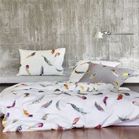 Wholesale Double Set 4pc - 100% egypt Cotton Bedlinen Luxury bedclothes King Queen double size bedcover Doona duvet cover sheet pillowcase 4pc bedding set