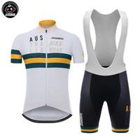 Wholesale Australia Cycling Jersey - NEW Customized 2017 Australia mtb road RACING Team Bike Pro Cycling Jersey Sets Bib Shorts Clothing Breathable JIASHUO Ropa CICLISMO