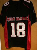 Wholesale Meaning Shorts - Mean Machine Sandler #18 Paul Crewe The Longest Yard Jersey Black S-XXXL