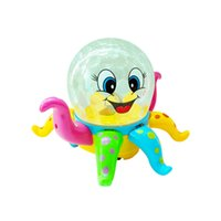 Wholesale Cartoon Ride - Lovely Disco cartoon Octopus 3D ligthts universal music kid Early education puzzle toys can Rotate wholesale